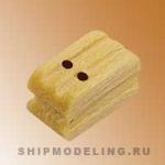 Блок, двушкивный, самшит, 7 мм, 15 шт