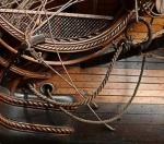Нить полиэфирная 1,0 мм ручной кабельной работы, коричневая, 1 метр
