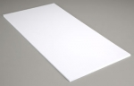 Белый пластик 0,75 мм, 2 листа 15х30 см