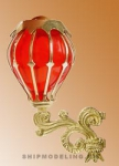 Кормовой фонарь, латунь и пластик, 35мм