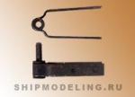 Петля для руля, черненый металл, 5 мм, 2 пары