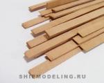 Рейка 2х15 мм, груша, 1 шт, длина 300 мм