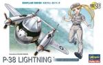60136 Конвертоплан EGG PLANE P-38 LIGHTNING (HASEGAWA)