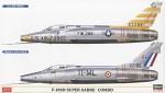 02200 Самолеты North American F-100D Super Sabre Combo (2 x kits) (HASEGAWA) 1/72