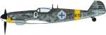 08242 Самолет Messerschmitt Bf109G-6 JUUTILAINEN with Figure (HASEGAWA) 1/32
