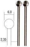 Фрезы вольфрам-ванадиевые, сфера, 6 мм, 2 шт