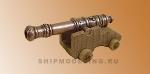 Пушка c декоративным узором на станке, металл и дерево, 50 мм