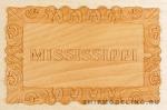 Табличка MISSISSIPPI, груша, 56х35 мм