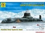 """Склеиваемая пластиковая модель Атомный подводный крейсер """"Дмитрий Донской"""", масштаб 1:700"""