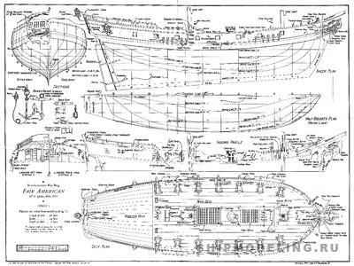 Чертеж корабля Fair American