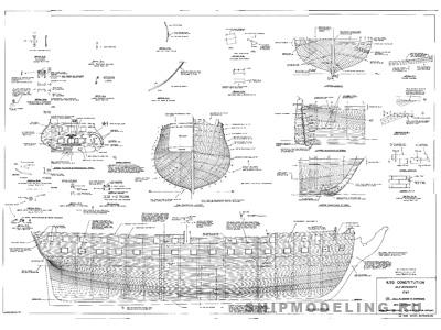 Чертеж корабля USS
