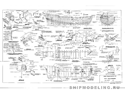 Чертеж корабля Virginia