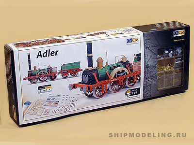 Модель паровоза Adler  масштаб 1:24