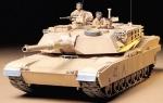 Склеиваемая пластиковая модель Американский танк U.S. M1A1 Abrams, масштаб 1:35