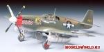 Сборная пластиковая модель Амер. P-51B Mustang, масштаб 1:48