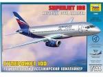 "Склеиваемая пластиковая модель самолёта ""Суперджет 100"", масштаб 1:144"