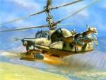 Склеиваемая пластиковая модель Российский тяжелый вертолет Ка-50Ш, масштаб 1:72