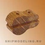 Комель-блок, одношкивный, орех, 12 мм, 4 шт