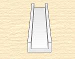Швеллер пластиковый 7,9х2,4 мм, 3 шт