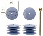 Силиконовые полировальные насадки в форме линзы, 10 шт