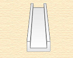 Швеллер пластиковый 4х1,3 мм, 4 шт