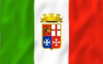 Флаг Италии c гербом ВМС