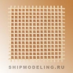 Собранная решетка, липа, 55х55х2,5 мм