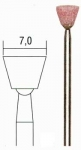 Шлифовальные насадки, обратный конус 7 мм, 5 шт