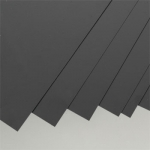 Черный пластик 2 мм, 1 лист 15х30 см