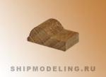 Эзельгофт французского типа, орех, 4шт, 6x8 мм