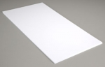 Белый пластик 0,13 мм, 3 листа 15х30 см