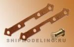 Петля для пушечного порта с втулкой , медь, 7 мм, 10 пар