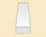 Полоска пластиковая 2,5х2,5 мм, 8 шт