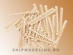 Заготовки для решеток, липа, 52х2 мм, 30 шт
