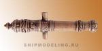 Пушка с декоративным узором, под бронзу, 45 мм, 2 шт