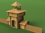 Надвратная Башня масштаб 1:60