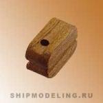 Блок, одношкивный, орех,  5 мм, 20 шт