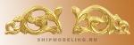 Декоративный элемент, латунь, 2 шт