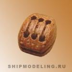 Блок, трёхшкивный, 5,5х3,5 мм, 10 шт