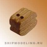 Блок, двушкивный, орех, 3 мм, 15 шт