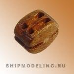 Блок, двушкивный, груша, 4 мм, 10 шт