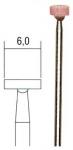 Шлифовальные насадки, диск 6 мм, 5 шт