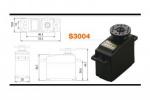 Аналоговая стандартная сервомашинка Futaba S3004