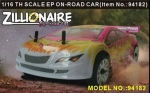 Радиоуправляемая модель электро Туринг Zillionaire 4WD масштаба 1:16 2.4Ghz