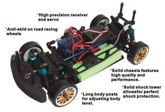 1/16 EP 4WD On-Road Drifting Car Радиоуправляемые машины в интернет-магазине VIP-TOY.RU