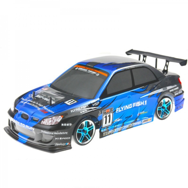 Радиоуправляемая модель электро Туринг Flying Fish 1 4WD масштаба 1:10 2.4Ghz (Субару/сине-черный)