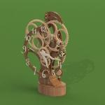 Настольные/каминные деревянные часы, сборная модель масштаб 1:1